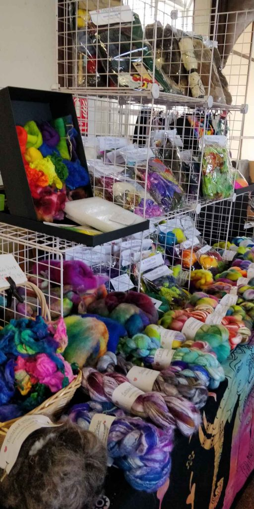 Twisted Fibres stall at Wild about Wool 2019